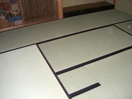 神戸大学、お茶室の畳画像