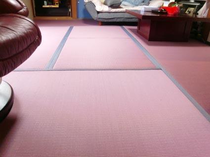 紫の畳画像