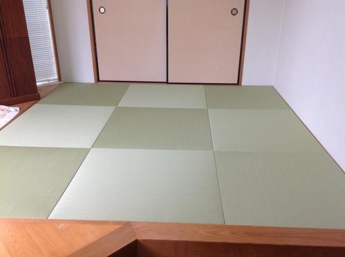 和紙琉球畳施工画像