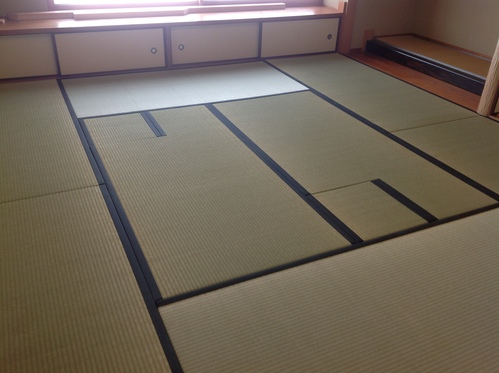 お茶室の畳画像