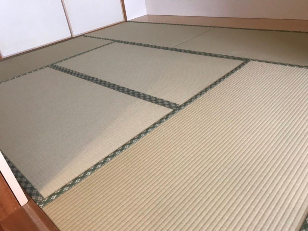 和紙畳、若草色新調畳