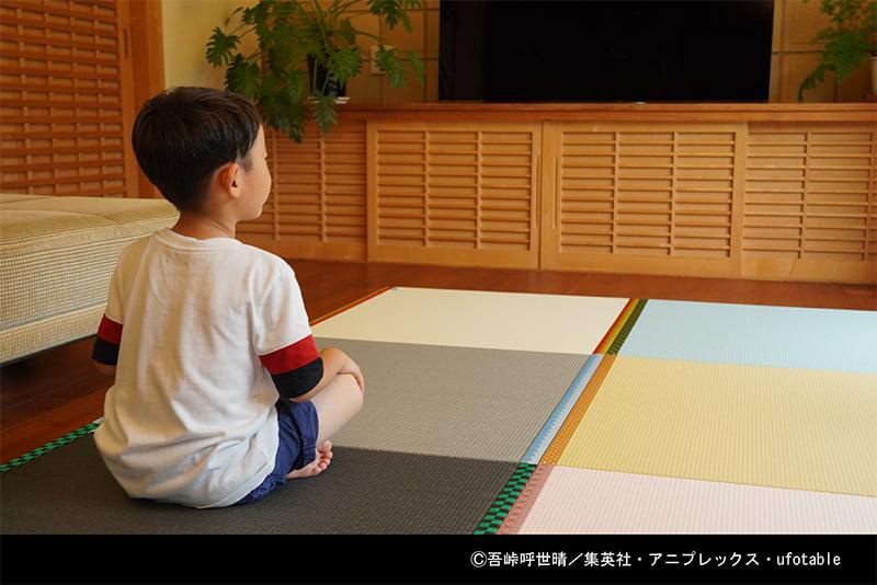 鬼滅の刃置き畳と子供画像